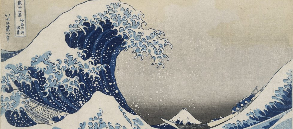 Under the wave off Kanagawa (The Great Wave) from Thirty-six views of Mt Fuji. Colour woodblock, 1831. British Museum. On display from 25 May - 13 August. (1).jpg